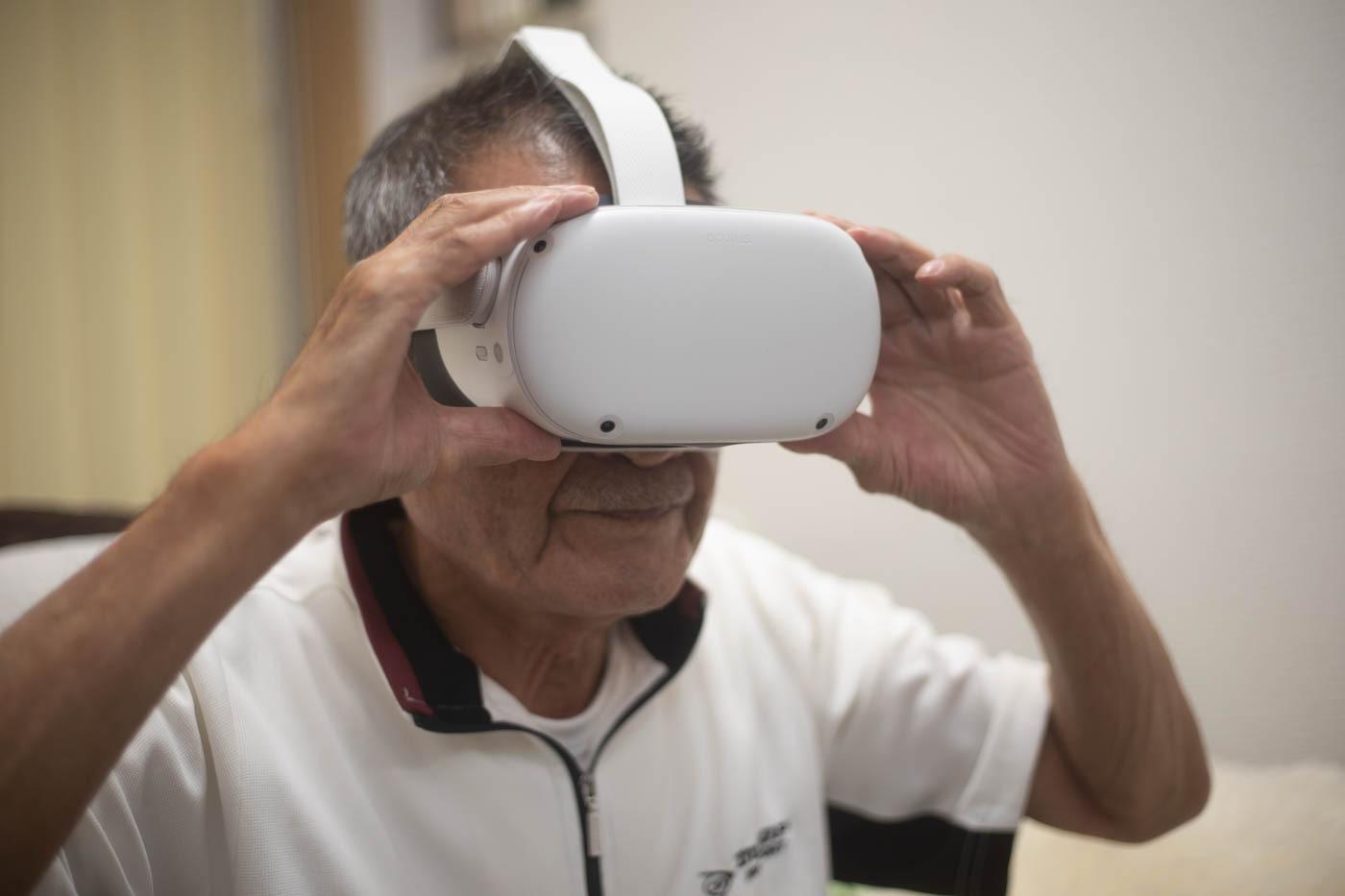 VRを体験している写真