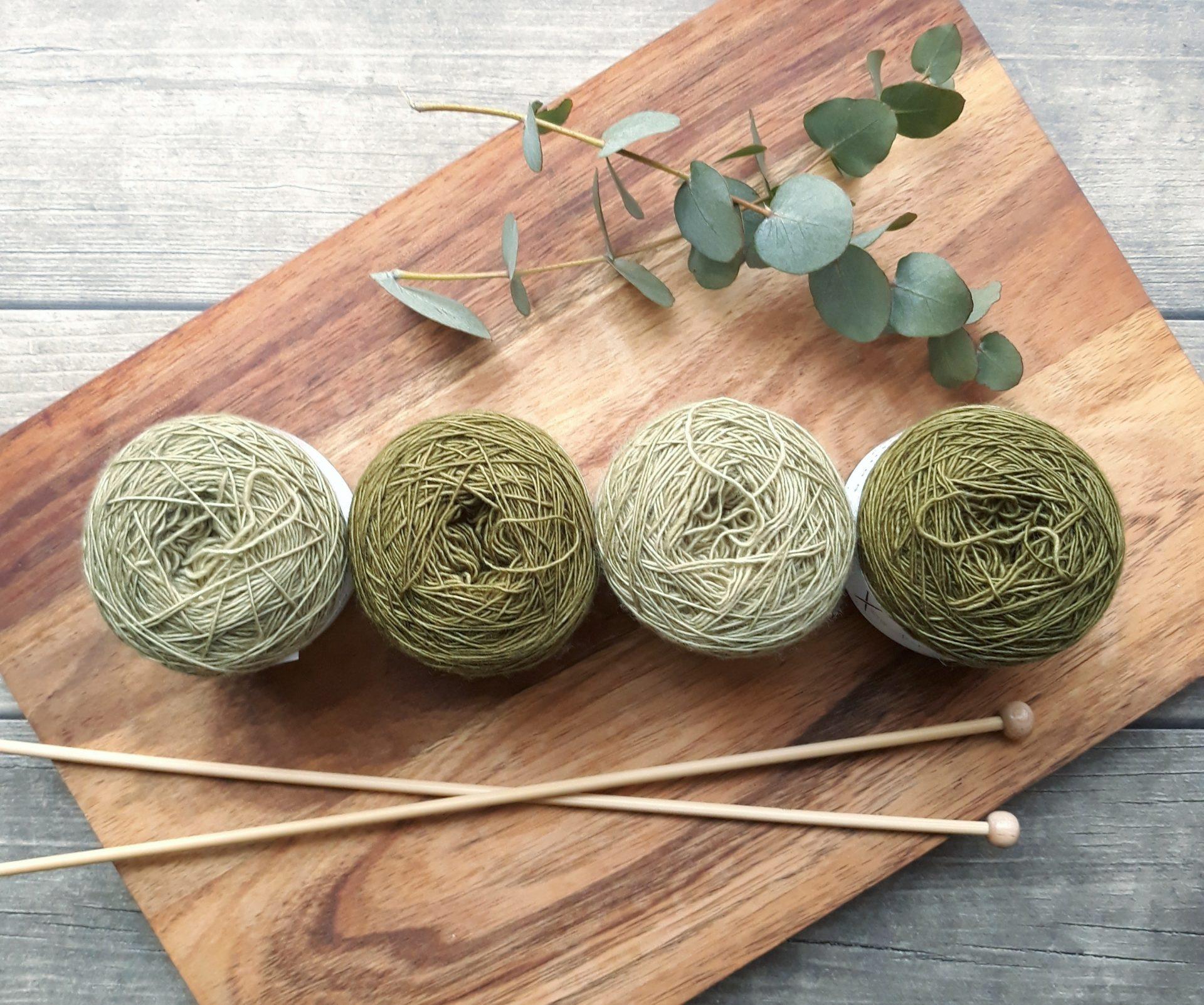 編み物で使用する道具の写真