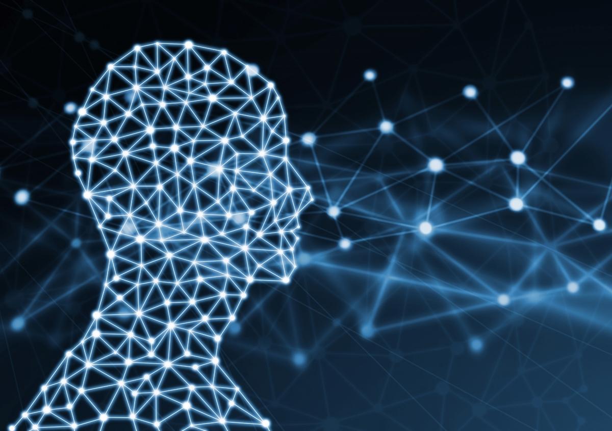 認知症の顔つきの見分けるAIのイメージ